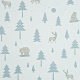 Into the Wild wallpaper - Grey/Storm Green