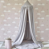 Quilted Linen Playmat - Silver Grey