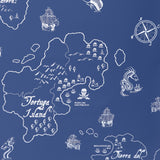 Pirate Seas wallpaper - Marine Blue/White