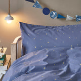 Starry Sky organic cotton bed linen for kids in Indigo/Gold