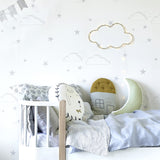 Starry Sky wallpaper - Silver / White