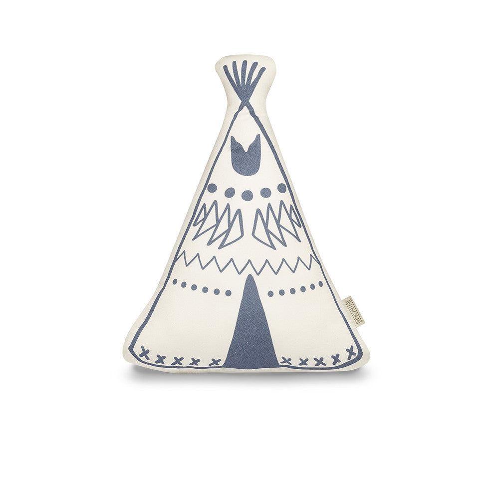 Teepee cushion - Indigo