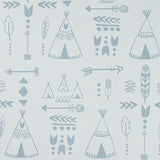 Teepees wallpaper - Storm Green/Grey