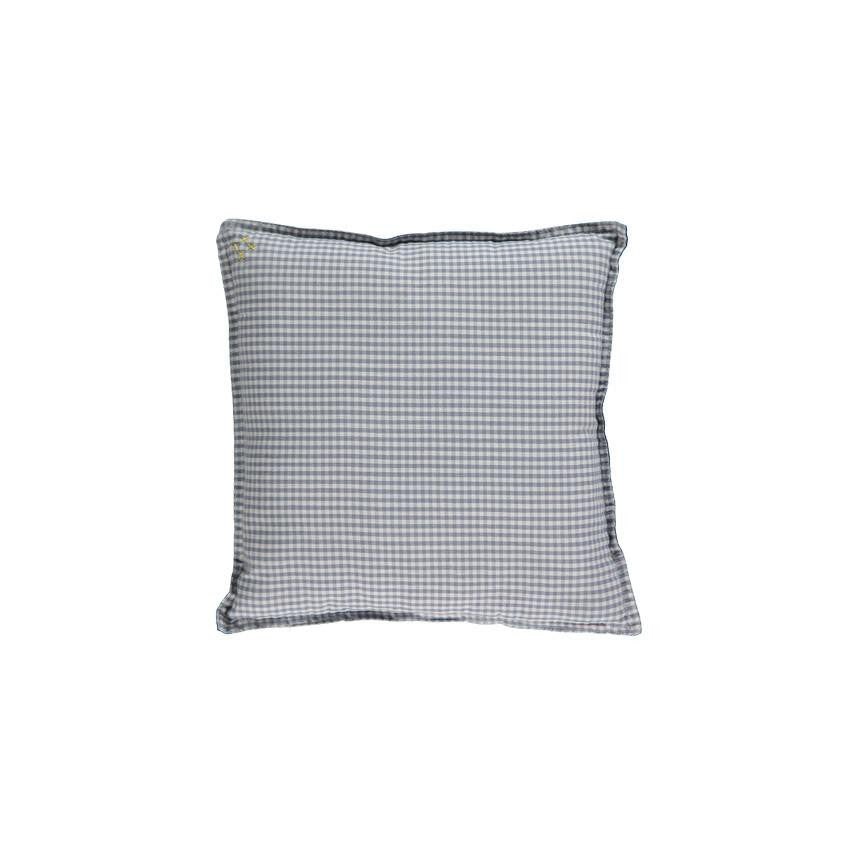 Square Gingham Check Cushion