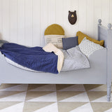 Reversible Cotton Quilt - French Blue