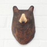 Brown Bear Paper Mâché Animal Head