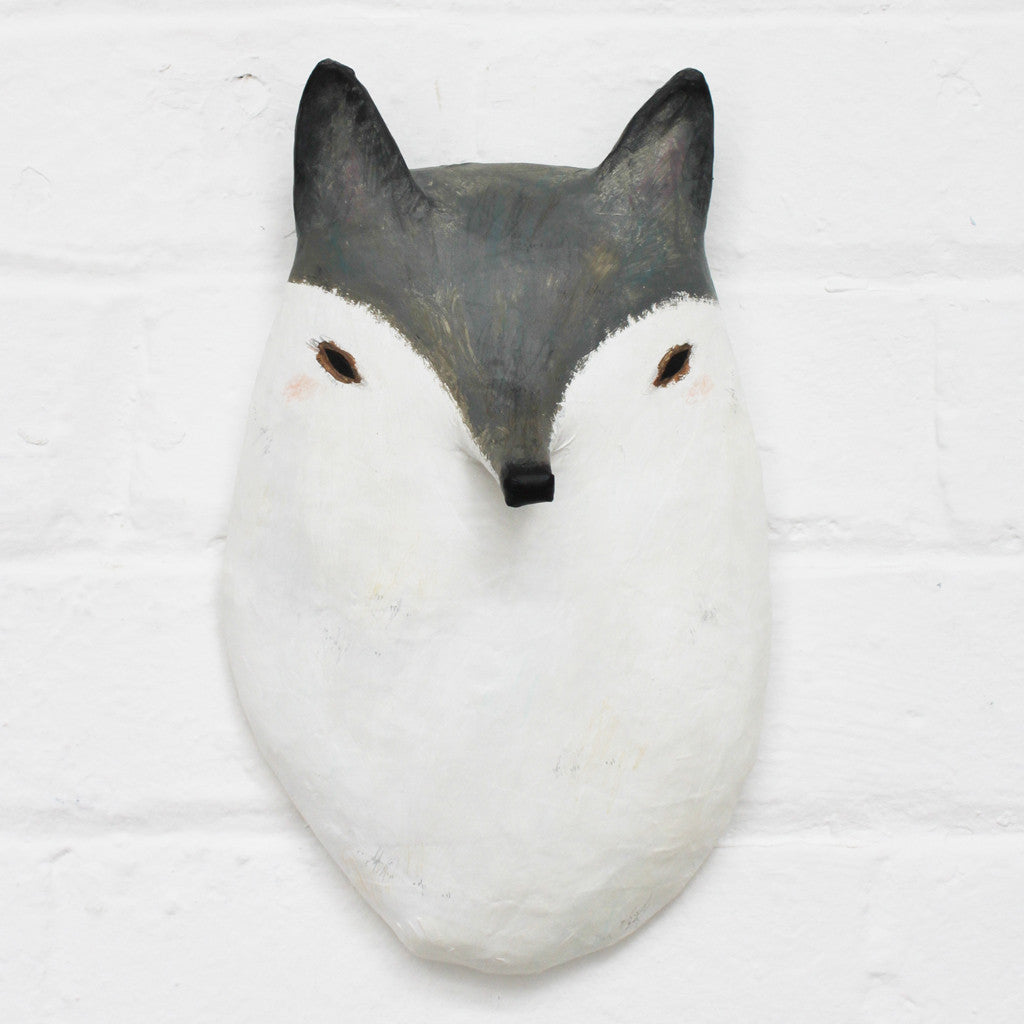 Wolf Paper Mâché Animal Head