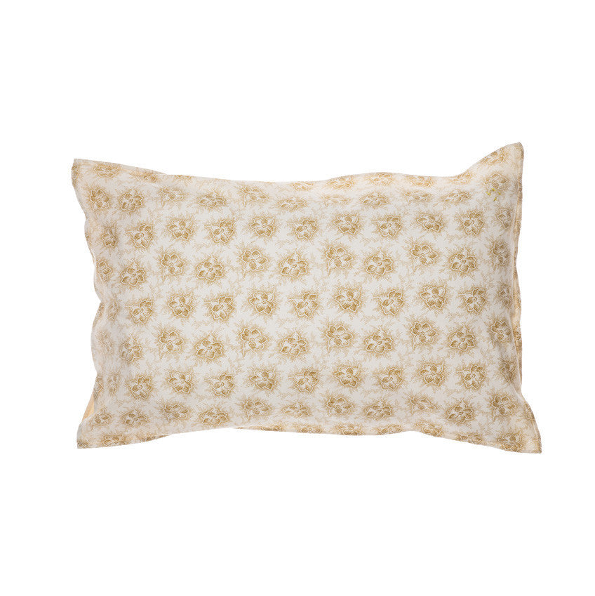 Spot Floral Golden Pillowcase