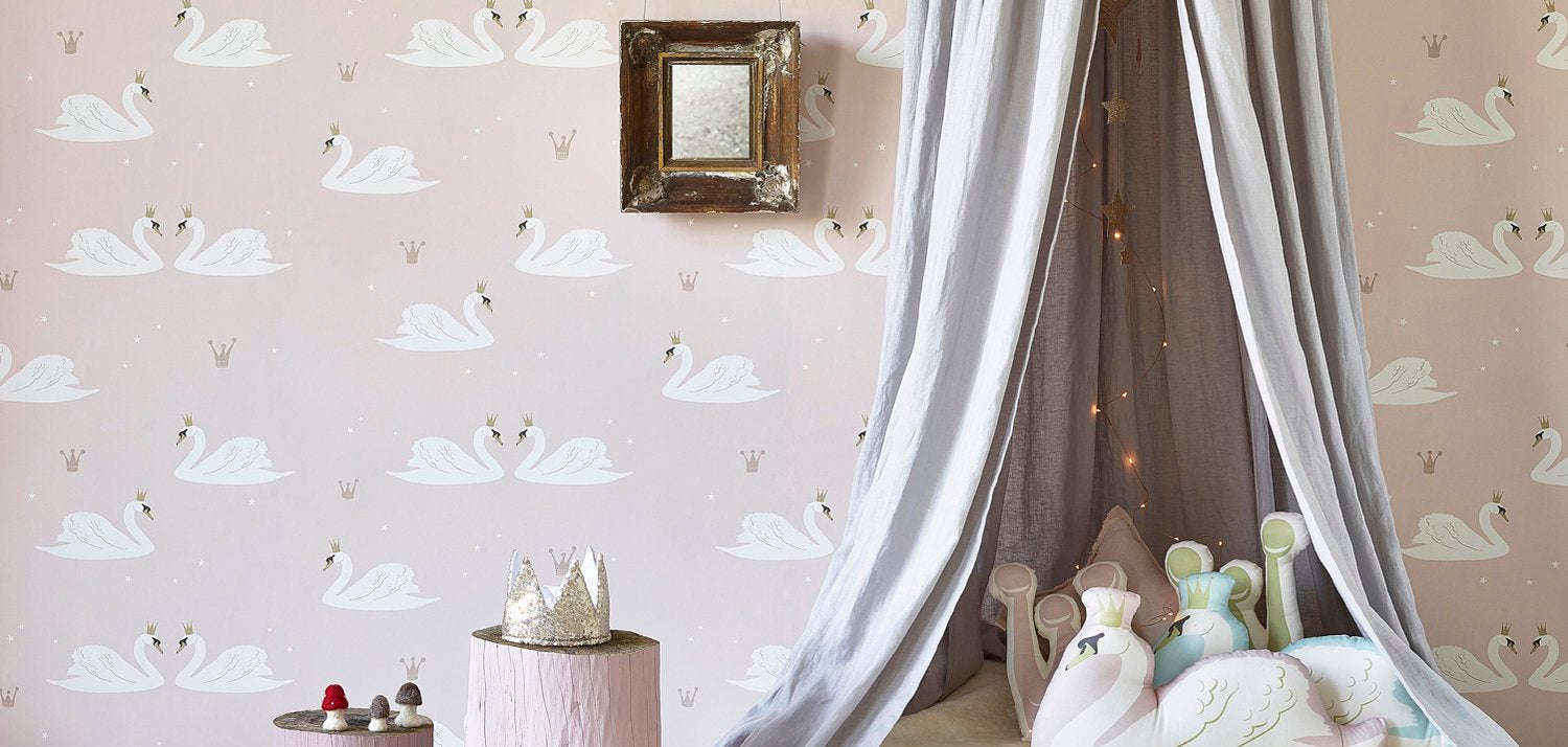Swans wallpaper by Hibou Home