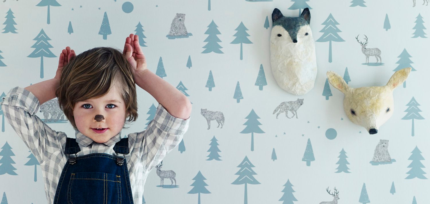 Teepees wallpaper by Hibou Home