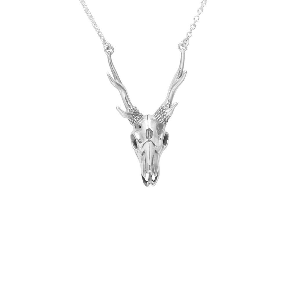 Antler Skull Necklace