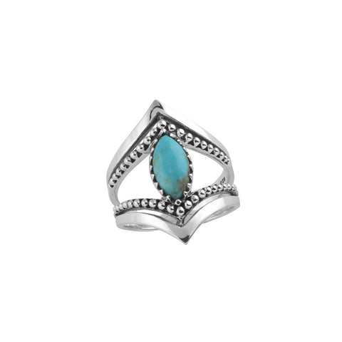 The Goddess Turquoise Marquise  Ring