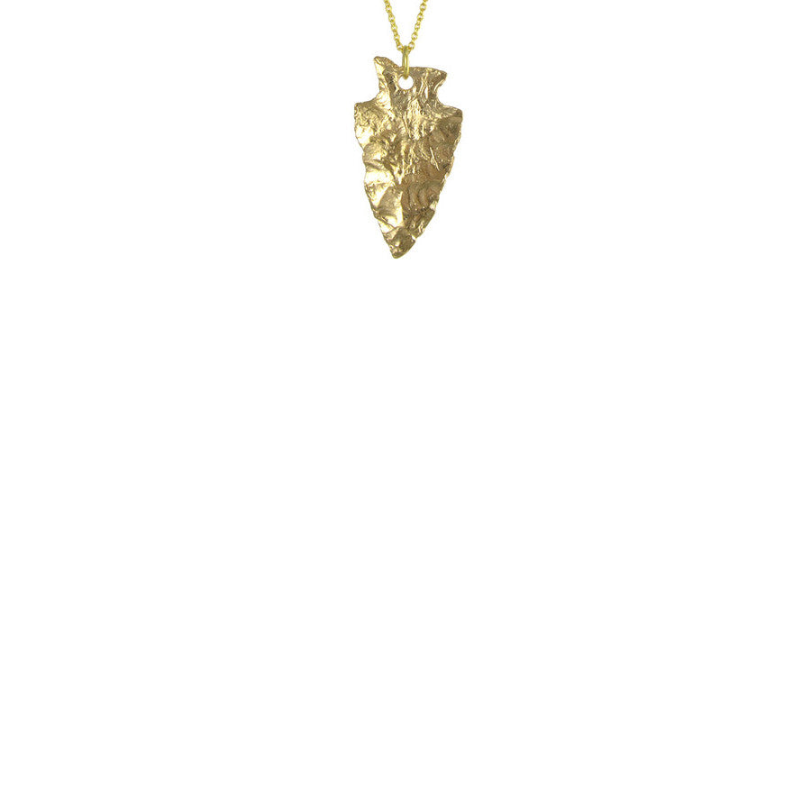 Large Gold Arrowhead Necklace