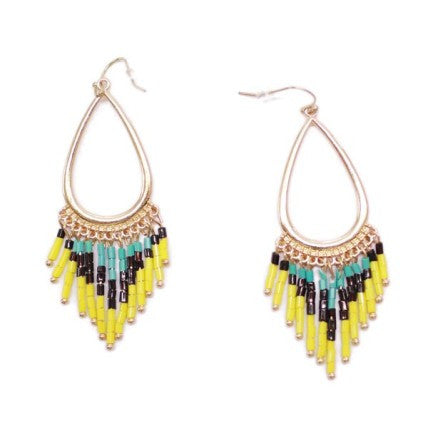 Bright Tribal Bead Earrings