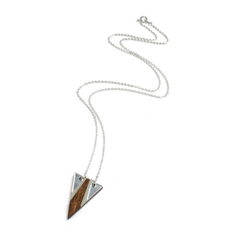 Airola Necklace Wood & Silver