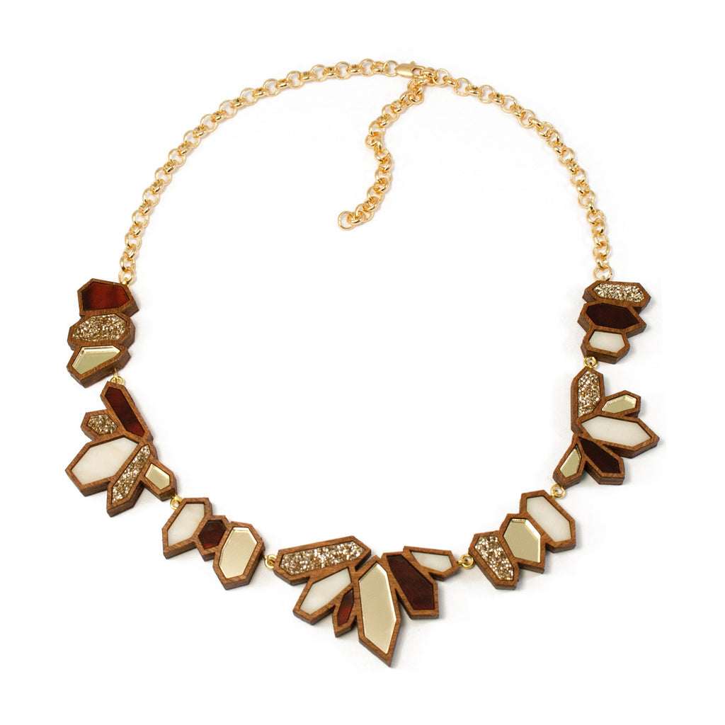 Cluster Collar Necklace - Tortoise Shell