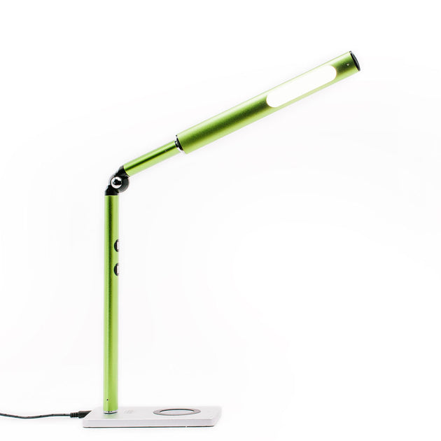 Otsego Dynamic Color LED Desk Lamp w/Wireless + USB Charging