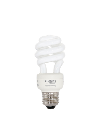 BlueMax™ 9w Spiral CFL Bulb, Replaces 40w incandescent