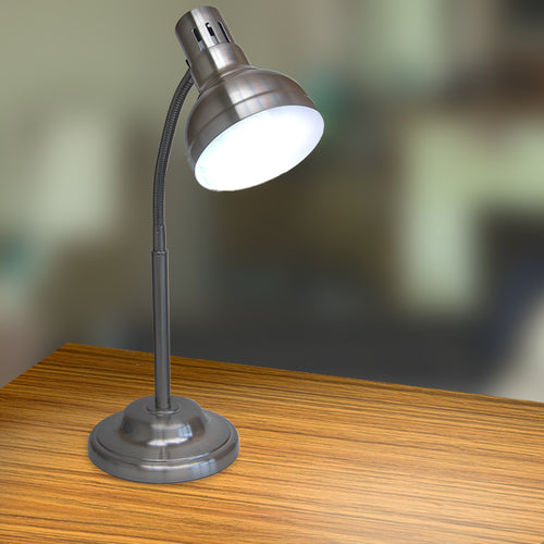 UltraLux 9w Brushed Steel Table Lamp