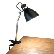 UltraLux® Black Clip-On Lamp