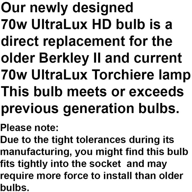 70w UltraLux® HD Torchiere/Berkeley Replacement Bulb