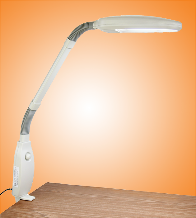 White 42 watt full spectrum work station lamp