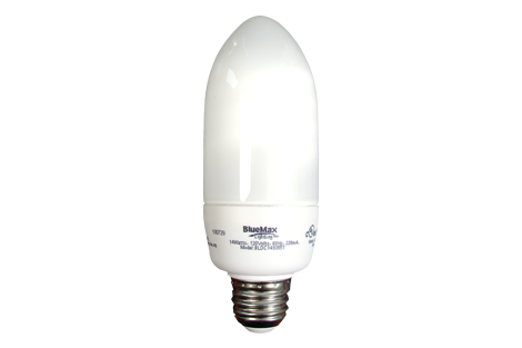 BlueMax™ 14w Blunt Tip CFL Bulb, Replaces 60w bulb
