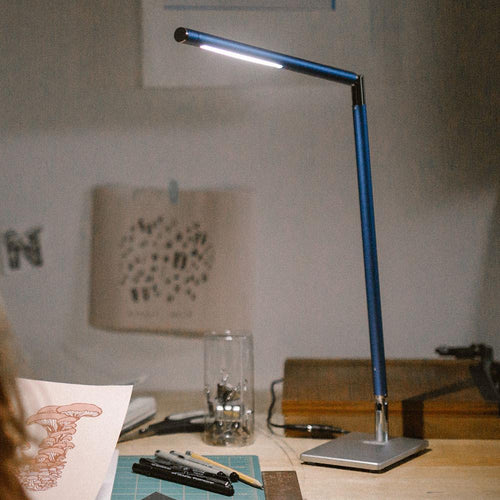 Blue Ella Sharp dynamic color Full Spectrum LED desk lamp