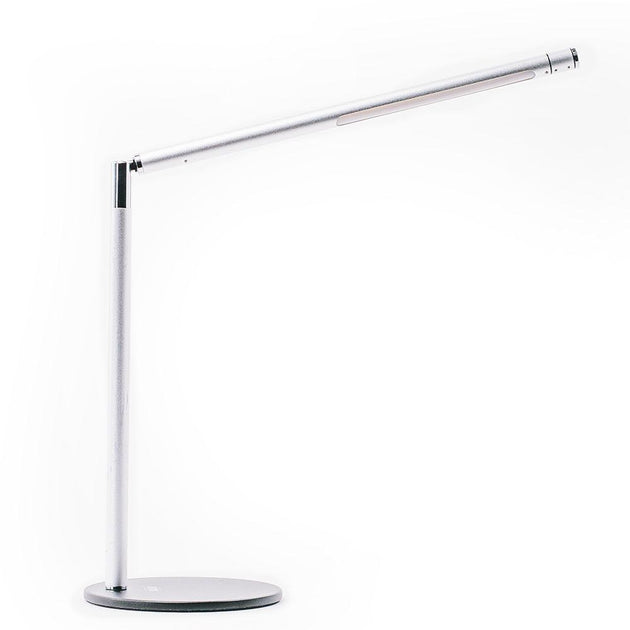 Armory silver LED desk lamp