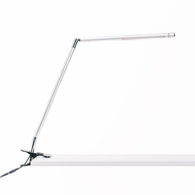 Avenue silver LED clamp-on desk