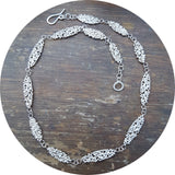Oval Lace Necklace