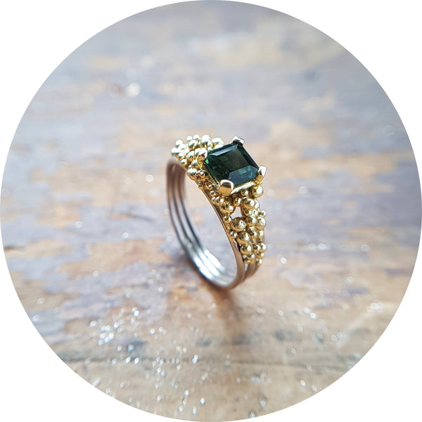 Tourmaline Scattered Ring
