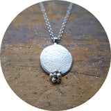 Granulated Disc Pendant