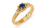 42.  Sapphire cluster ring