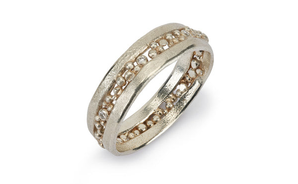 Cut Diamond Ring - white gold