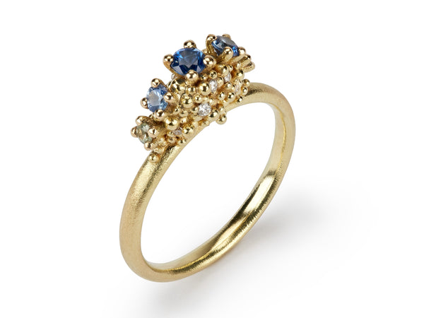 Jewelled Sea Urchin Sapphire Ring