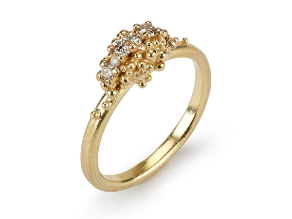 Jewelled Sea Urchin Diamond Ring
