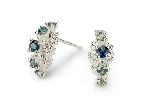 Jewelled Sea Urchin Earrings - 5 stone
