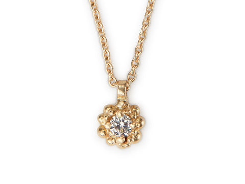 Cluster Pendant - gold & diamond