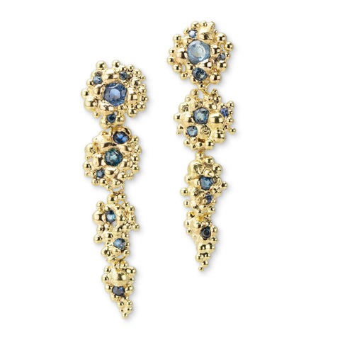 Sapphire and Berry Drop Berry Earrings