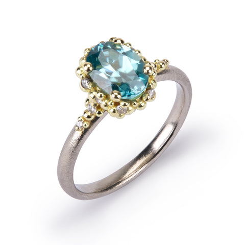 Cluster Ring - Blue Zircon