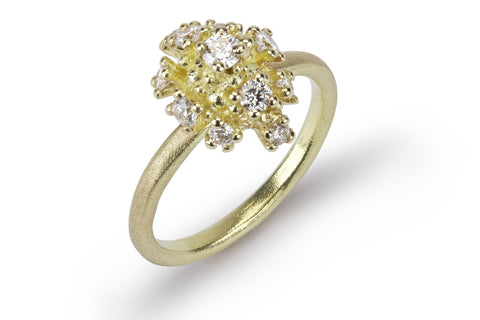 Diamond Sea Urchin Ring