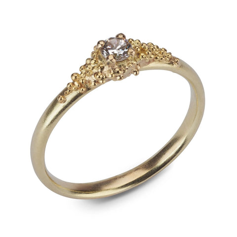 Cluster Diamond Ring - 18ct yellow gold