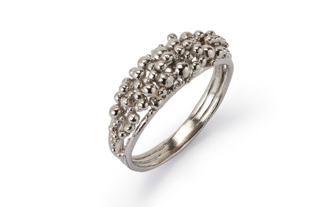 Scattered Granule Ring - White Gold