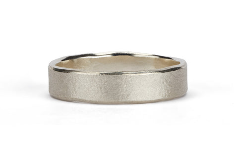 Wave Ring - 9ct white gold