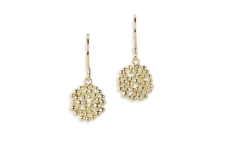 Gold Berry Drop Earrings