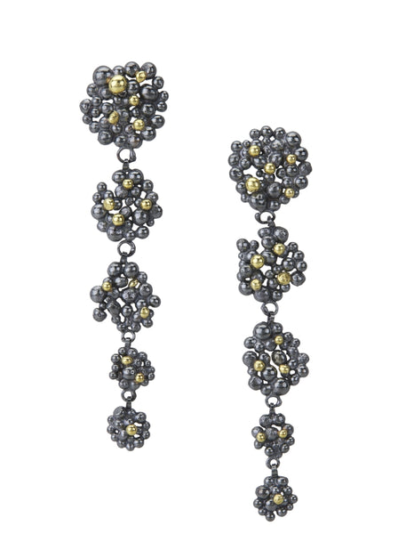 Berry cascade earrings