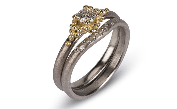 35. Cluster Diamond Ring Set