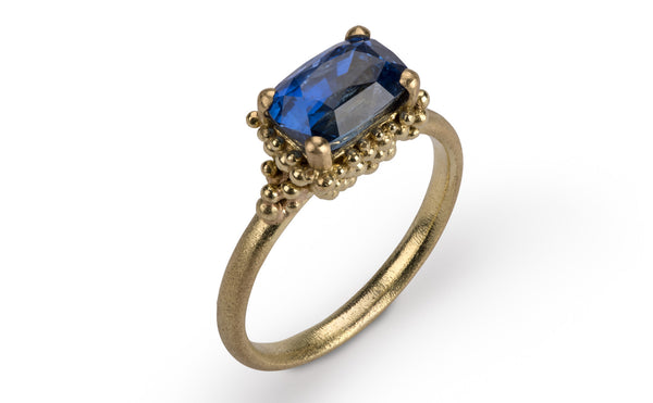 30. Cluster Sapphire Ring