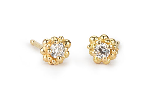 Cluster Earrings Medium - diamonds